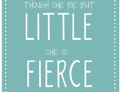 though she be but little she is fierce #quote shakespeare, a midsummer night's dream