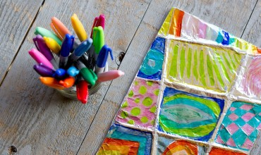 Colorful Zentangle Art: Easy Aluminum Foil Kids Project