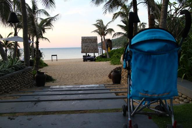Danang Vietnam via suitcase & strollers