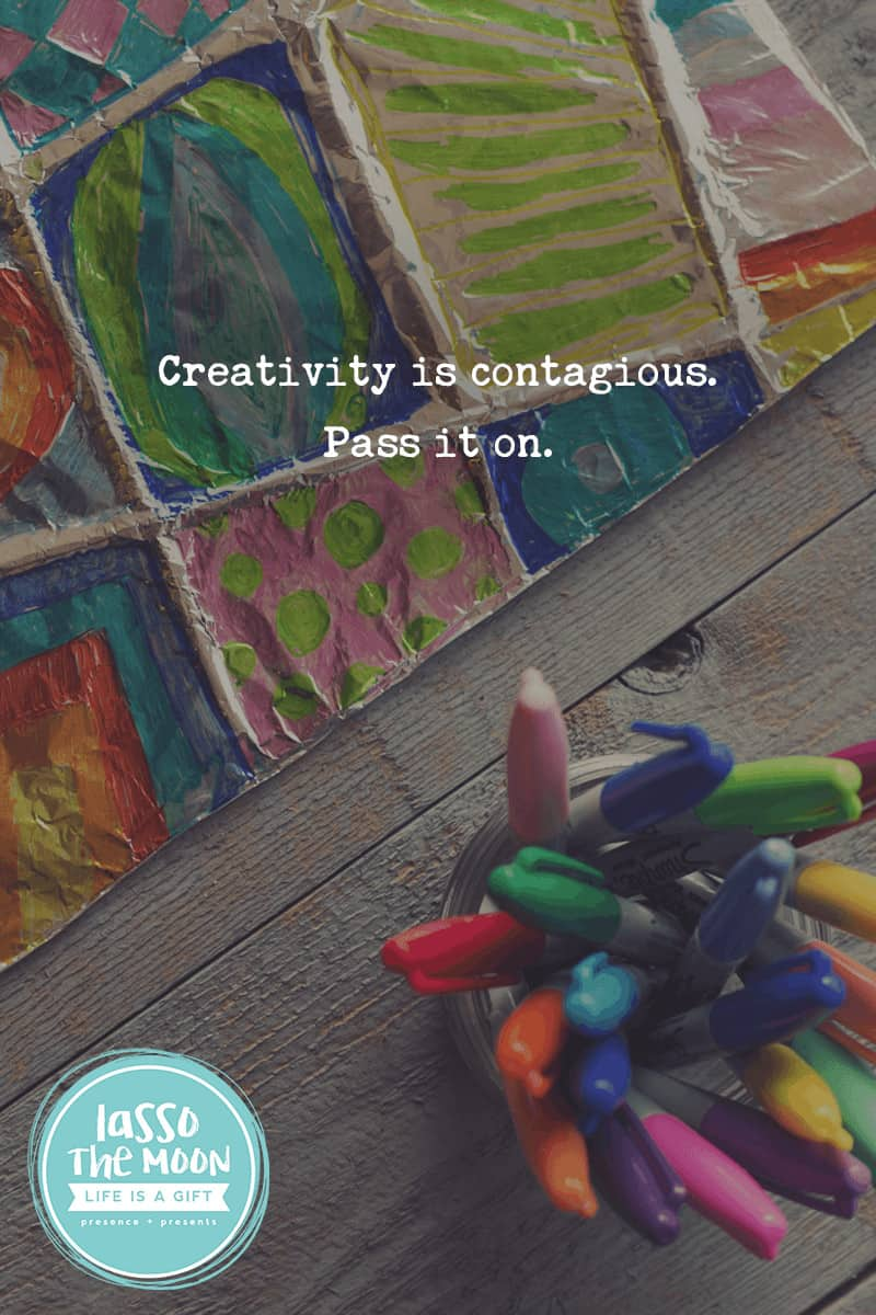 Creativity is contagious. pass it on. #quote #einstein *love this foil zentangle project with sharpies