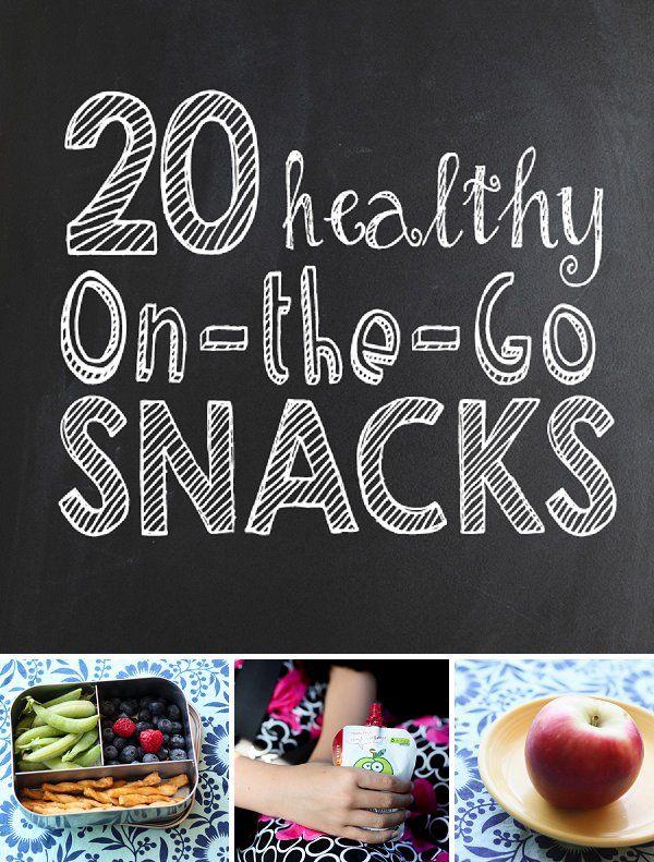 20 Healthy On-the-Go Snacks *great list