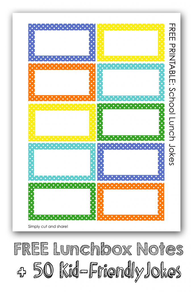 printable kids lunchbox notes over 50 kid friendly jokes plus healthy lunch ideas - Printable Kids