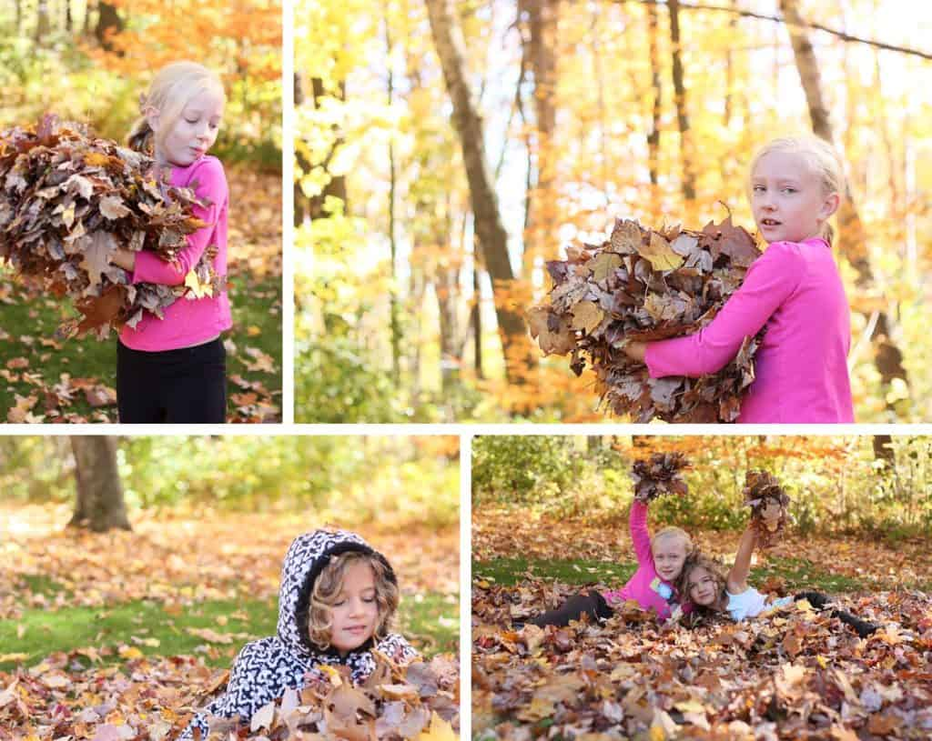 5 Quick Tips for AWESOME Photos of the Kids Playing in the Leaves *love the different beginner DSLR Tips