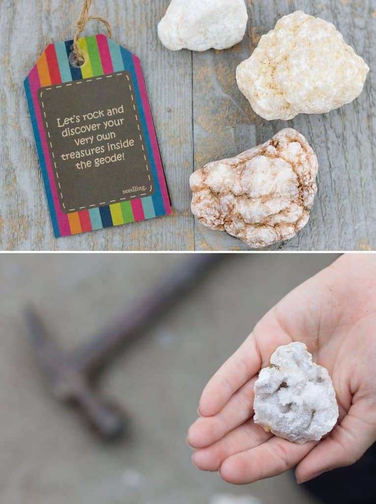 Geode Science for Kids *Also an opportunity to talk about the differences between external and internal beauty.