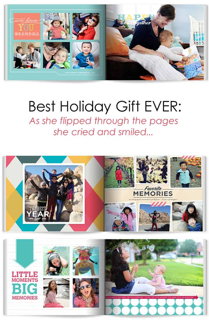 Best Holiday Gift EVER: As she flipped through the pages she cried and smiled... #Christmas #Photography #Gifts *Perfect idea for my mother-in-law