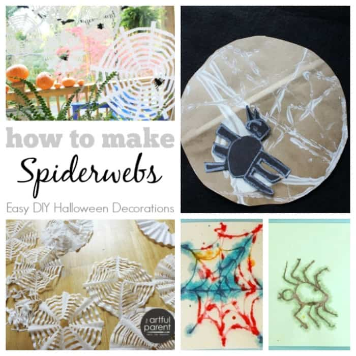 More Spider Web Art Projects for Kids