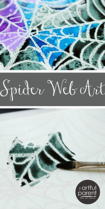 Spider Web Art Project A Simple