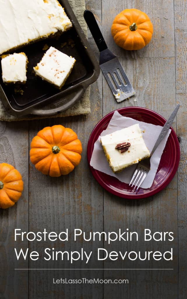Frosted Pumpkin Bars We Simply Devoured #recipe *Saving this for later.