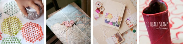 DIY Handmade wrapping paper for kids