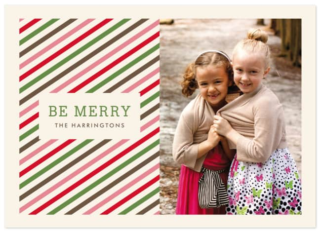 Twisted Peppermint Holiday Postcards