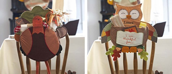 Thanksgiving Chairback Decorations