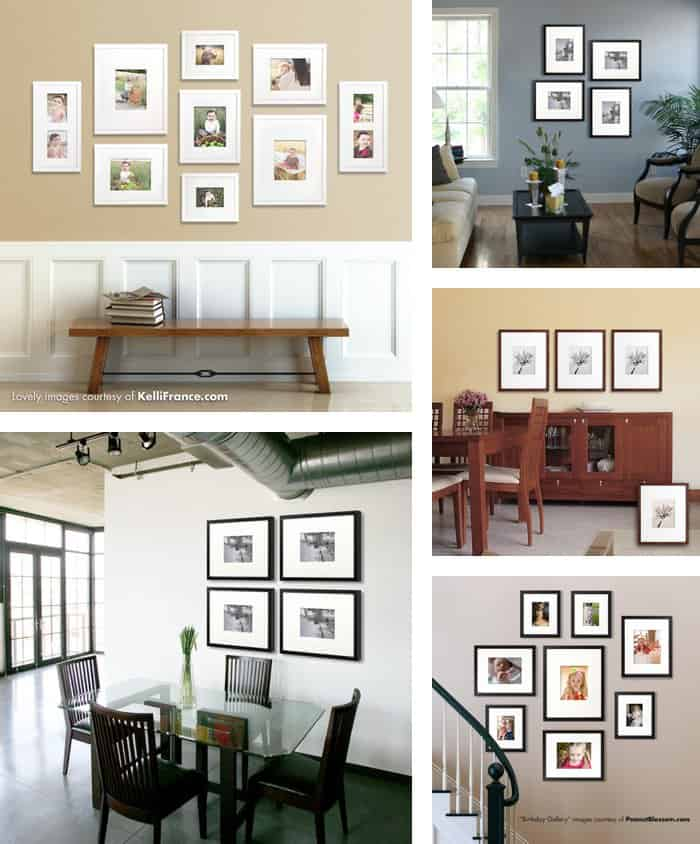 20+ Gallery Wall Ideas: Bringing together life, photography, family, and art *Loved