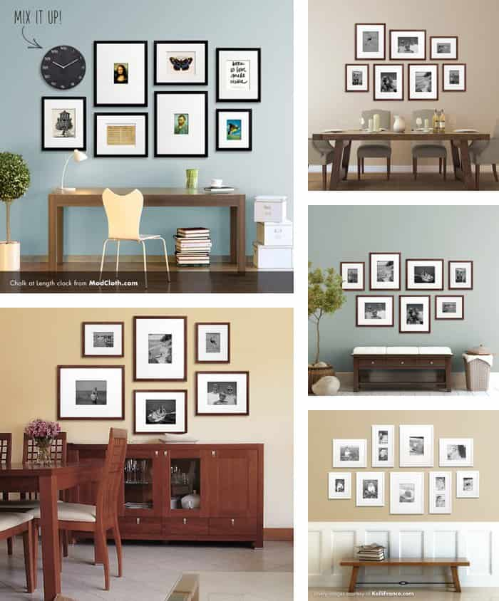20+ Gallery Wall Ideas: Bringing together life, photography, family, and art
