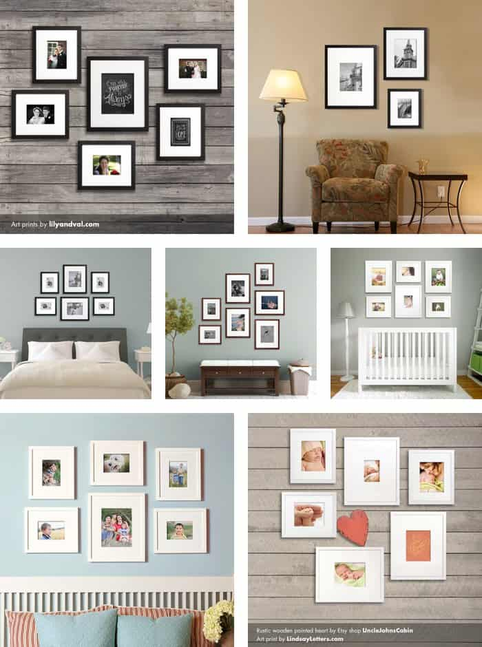 20 gallery wall ideas for Hanging pictures on walls ideas