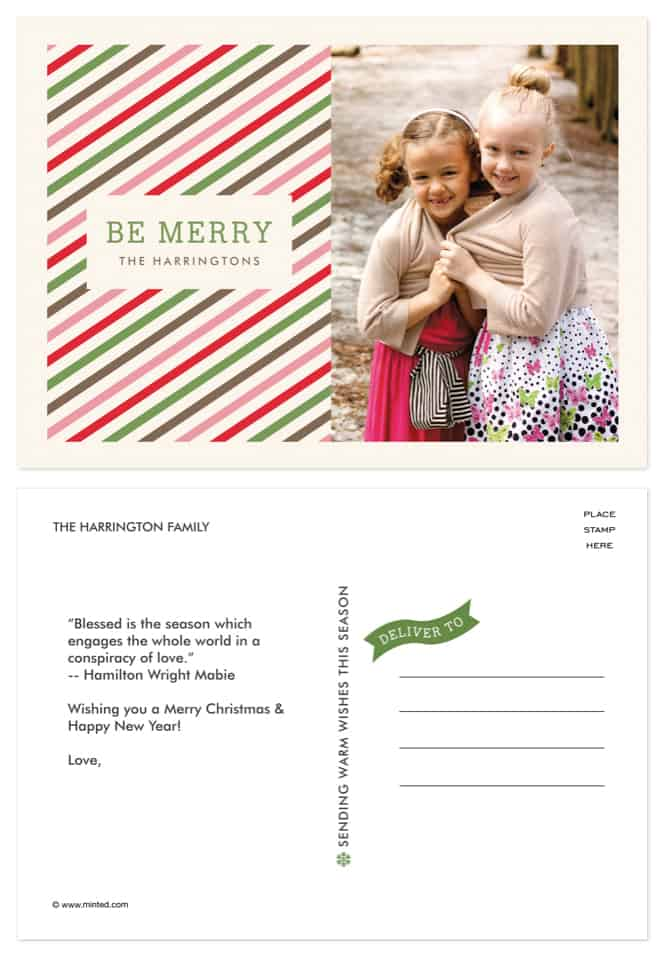 Holiday POSTCARDS from minted #Christmas #Photography *so cute