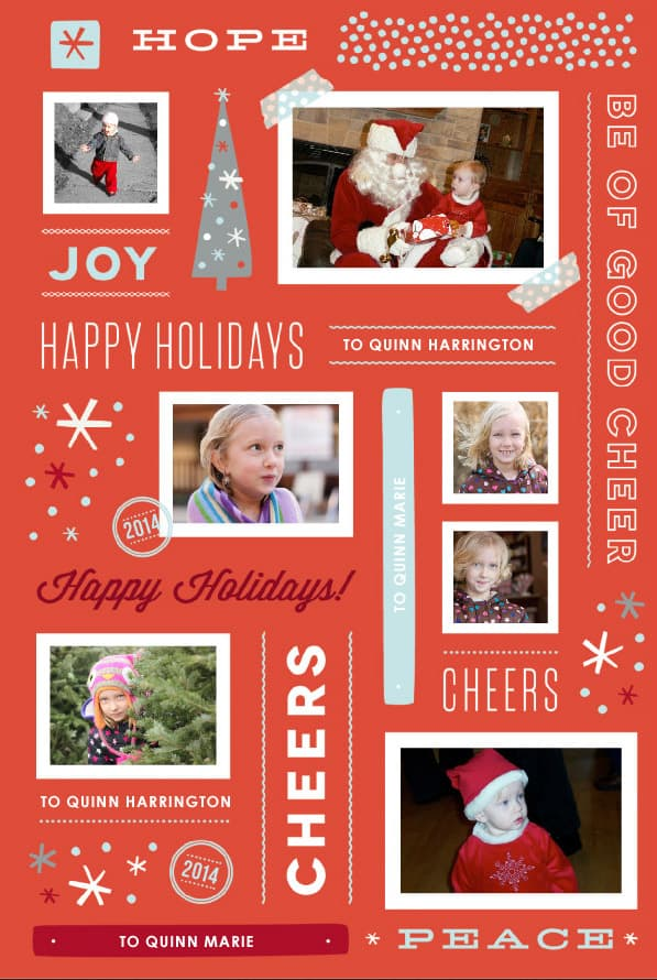 Customized Christmas wrapping paper from minted.com
