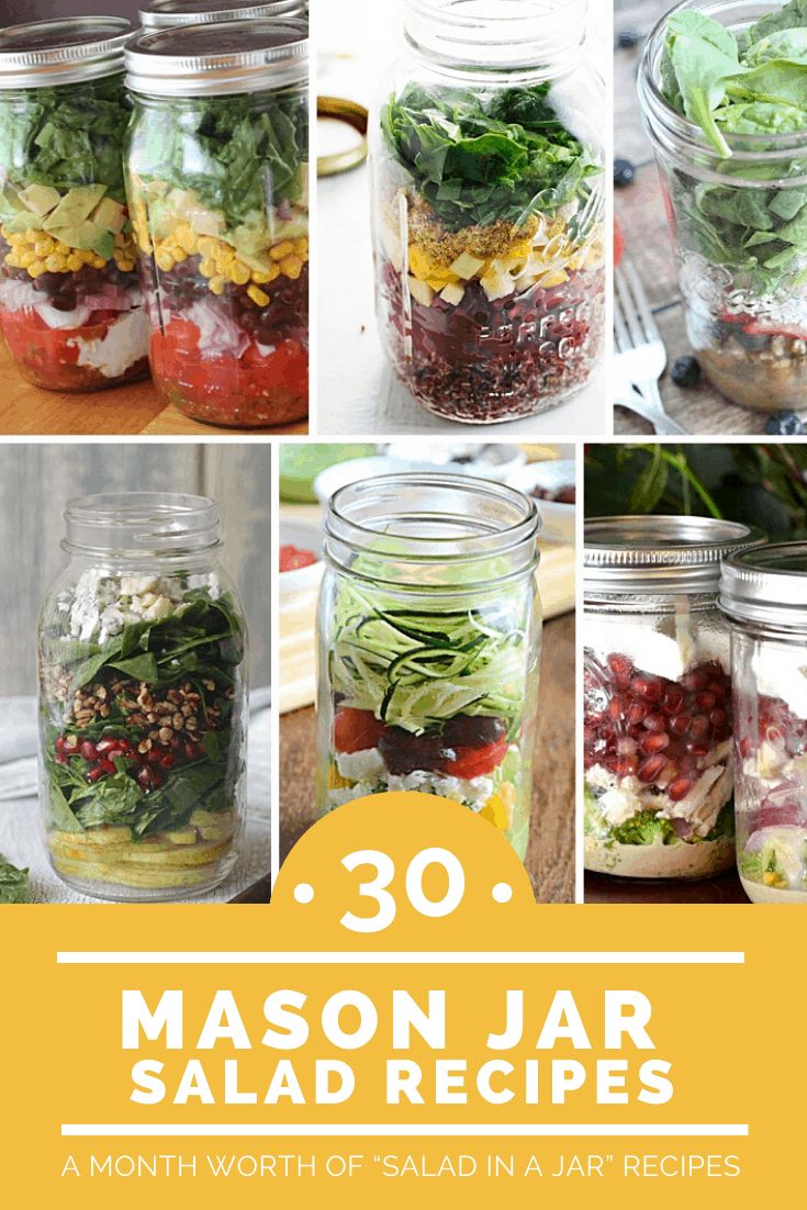 Mason Jar Recipes: Salad in a Jar Recipes With a Variety of Ingredients