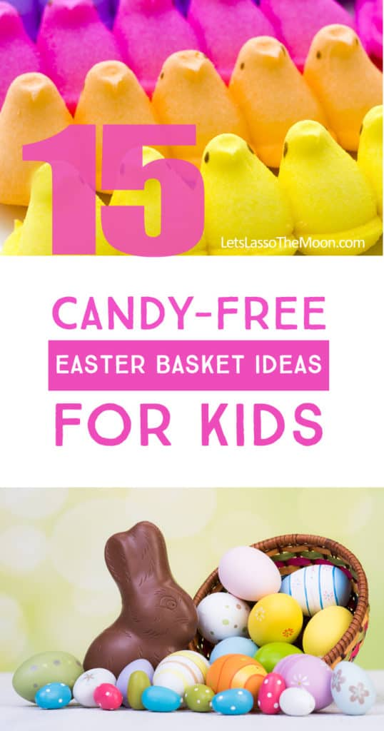 Loving these ideas for putting LESS candy in our Easter Basket this year *Practical Easter Basket Ideas for Kids