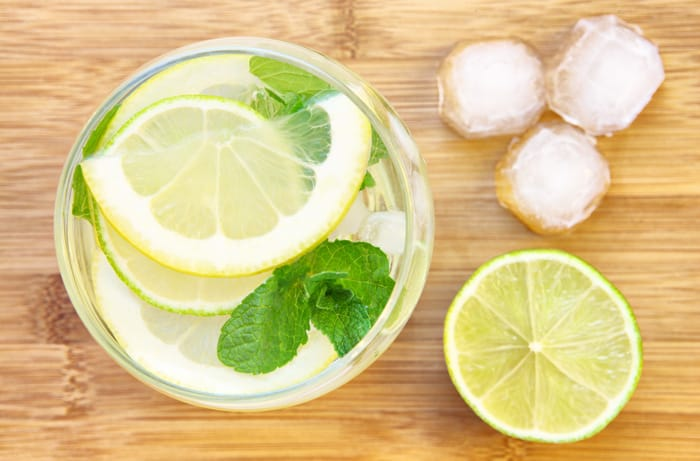 Add a dash of fresh lemon or lime to your water and you'll feel like your in a brand new latitude.