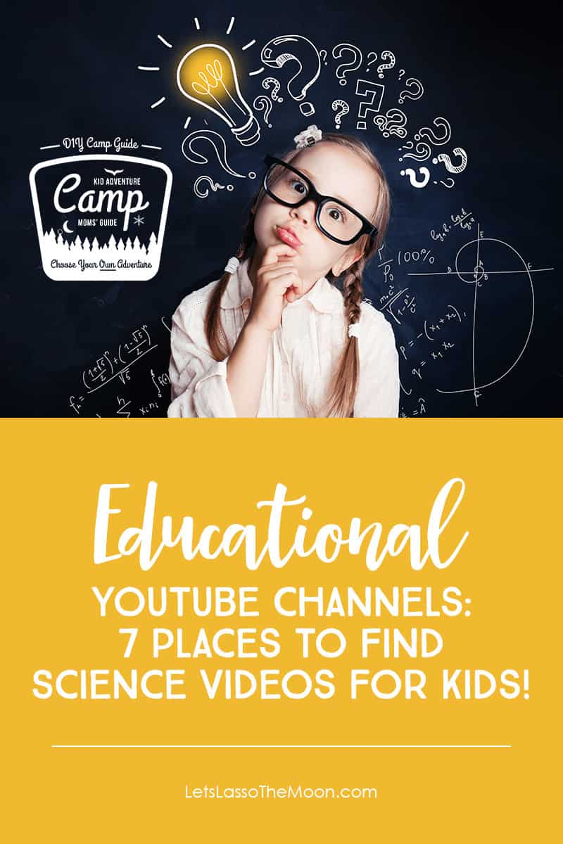 Science Inspiration for Kids: 7 Awesome Educational YouTube Channels + TED Talks Too! #kidsscience #youtube *Saving this list for summer!