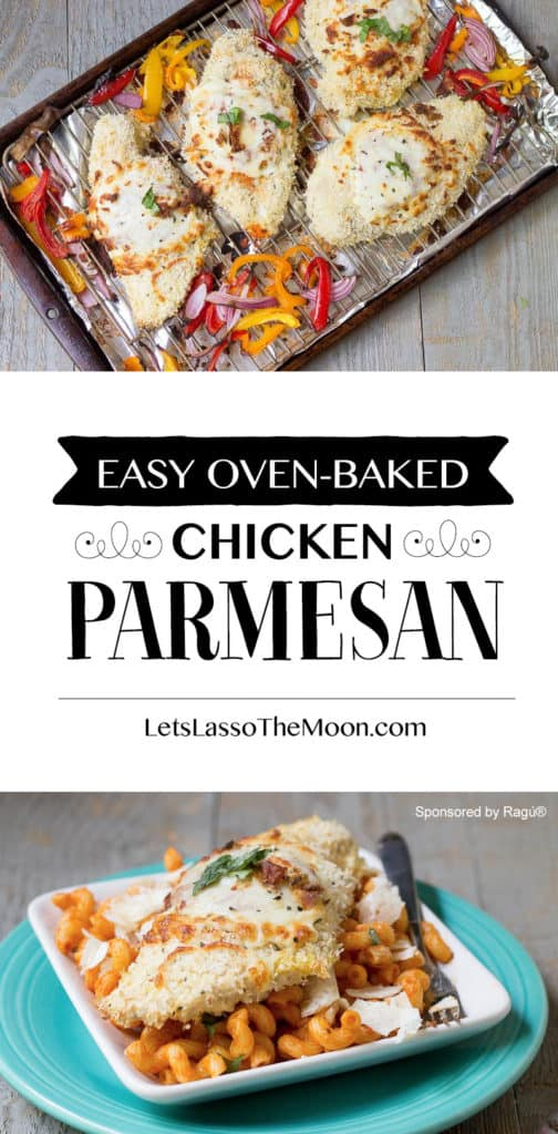 Oven-Baked: A bit of a healthier approach to a traditional chicken parmesan recipe... *Saving this for later