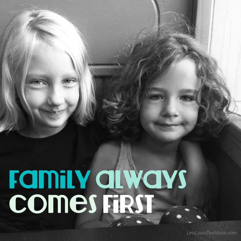 family always comes first. #quote