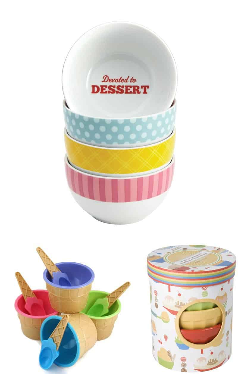 Adorable ice-cream bowls