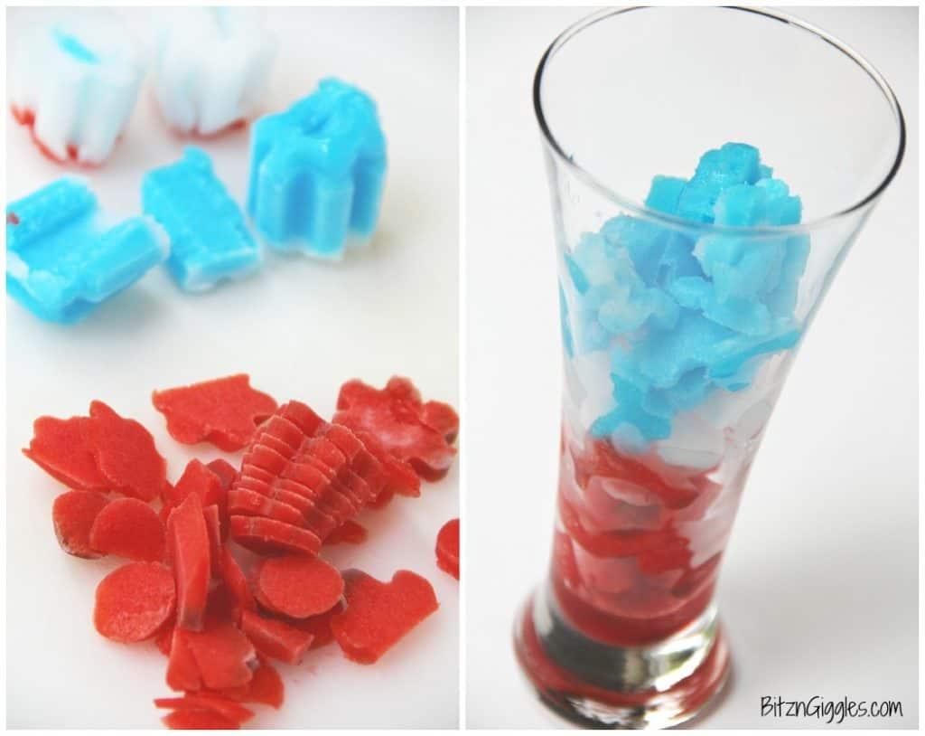 Frozen Bomb Pop Slushies
