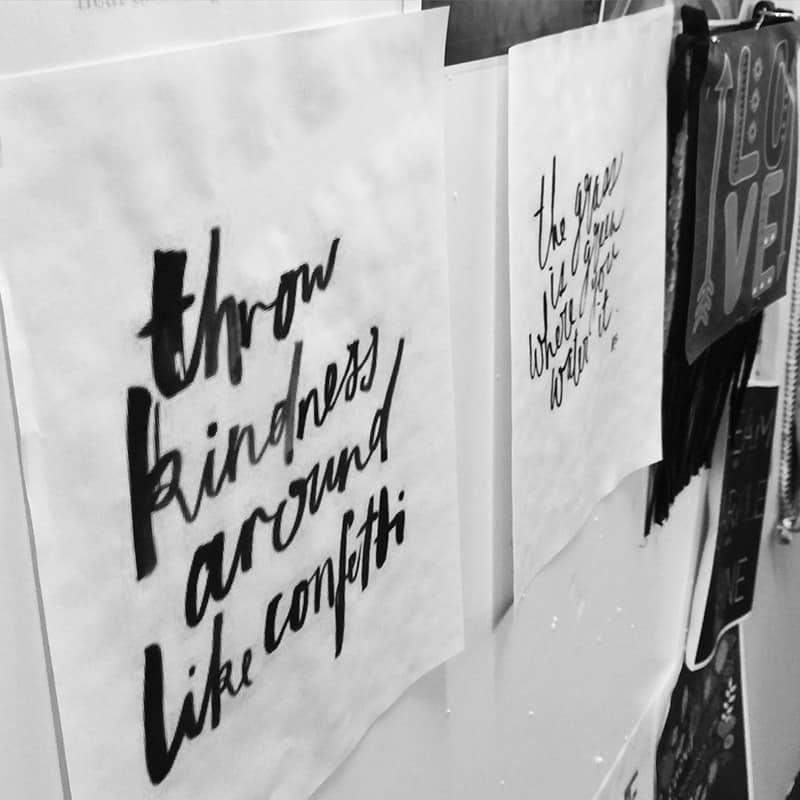 Through kindness around like confetti #quote