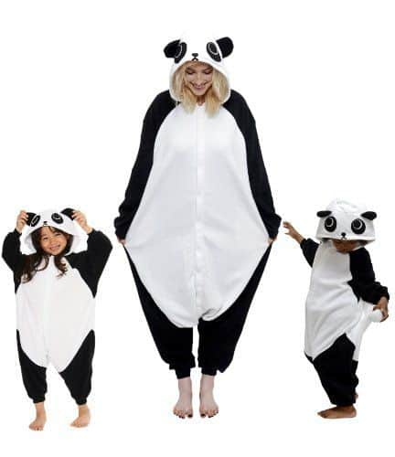 Children's Halloween costumes that your kids can wear coats under for cold weather trick-or-treating *Love this panda costume