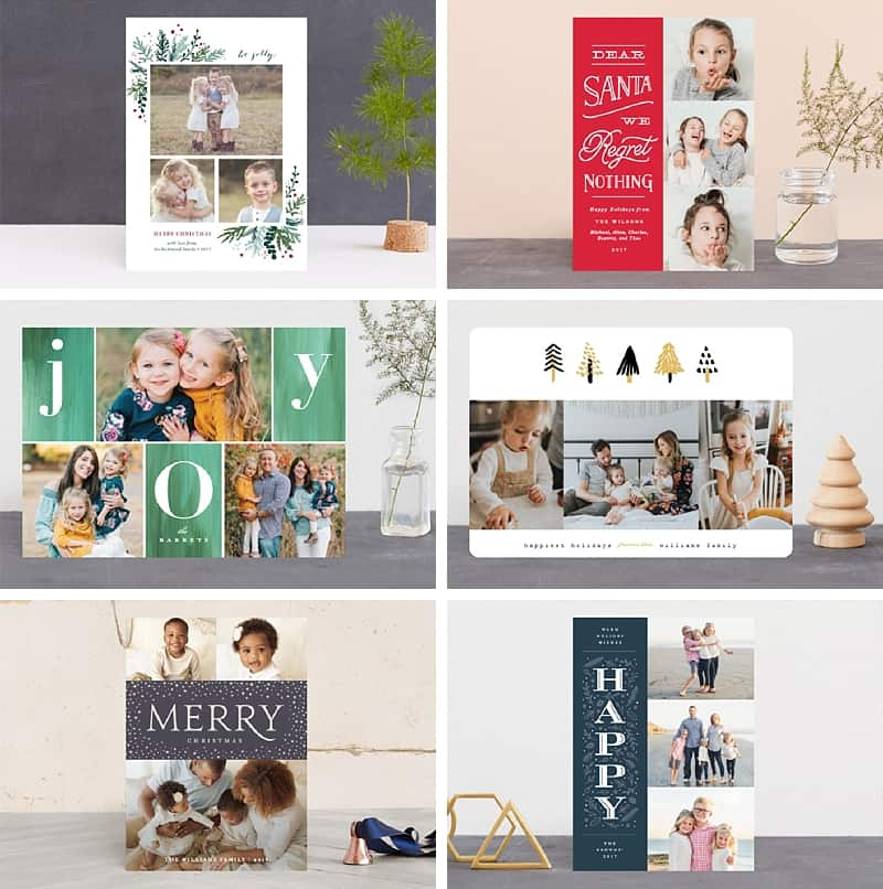 Such sweet designs for holiday photo cards *Now I just need to get my butt in gear and order before Christmas