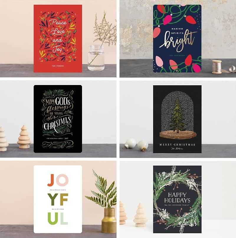 Such sweet designs for holiday cards *Now I just need to get my butt in gear and order before Christmas