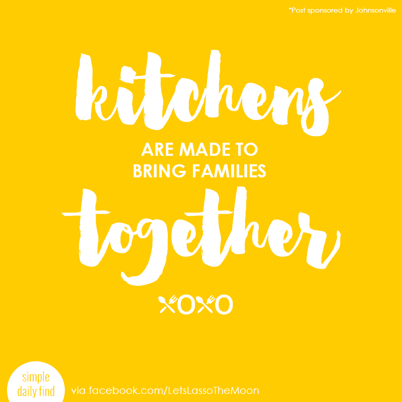 Kitchens are made to bring families together. #quote