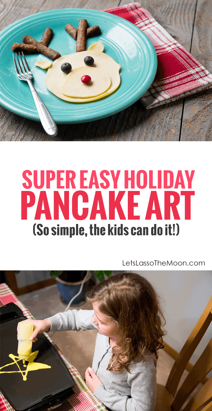 Breakfast for Dinner - A Holiday-Weekend Family Tradition *These Christmas pancake art designs are so simple. Love that even the kids can make them. So fun!