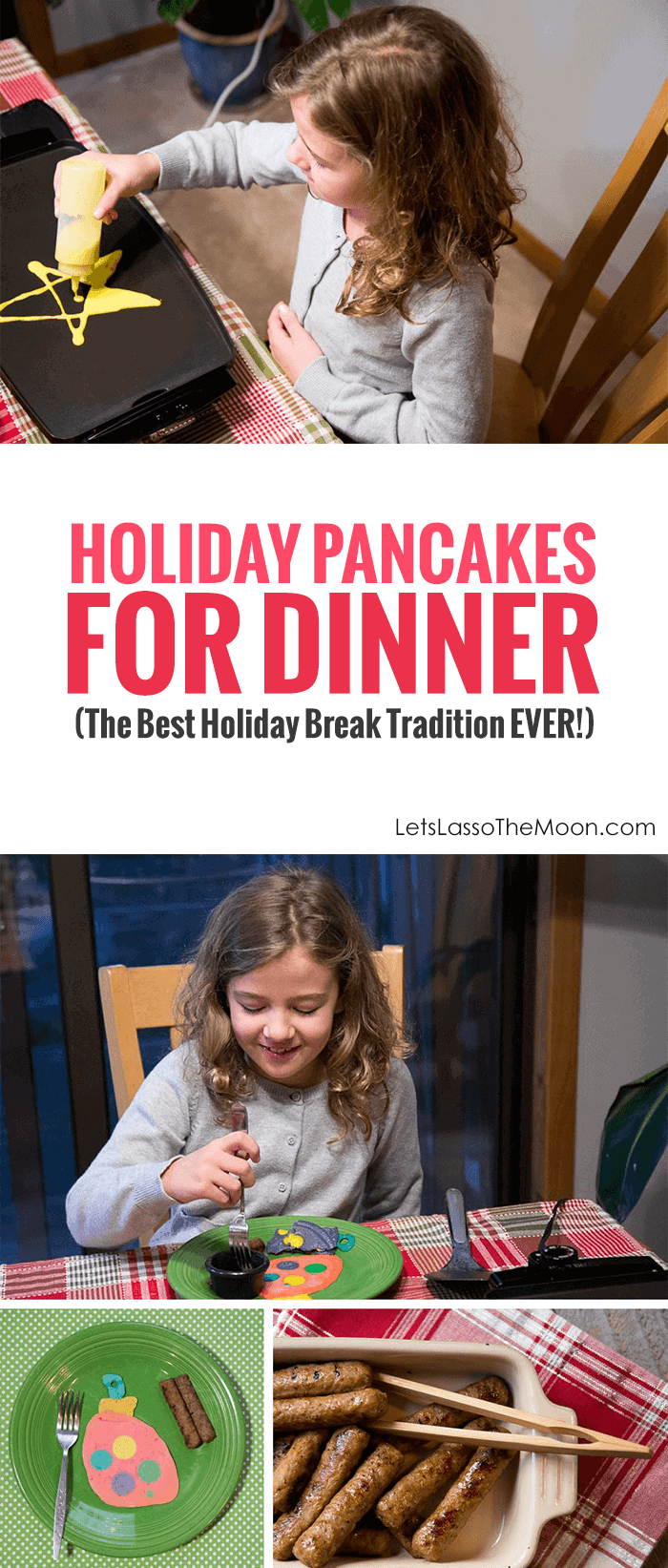 Slow and Simple Holiday Traditions: Making Christmas Pancake Art *This looks so fun, my kids would love it. Breakfast for dinner is AWESOME.