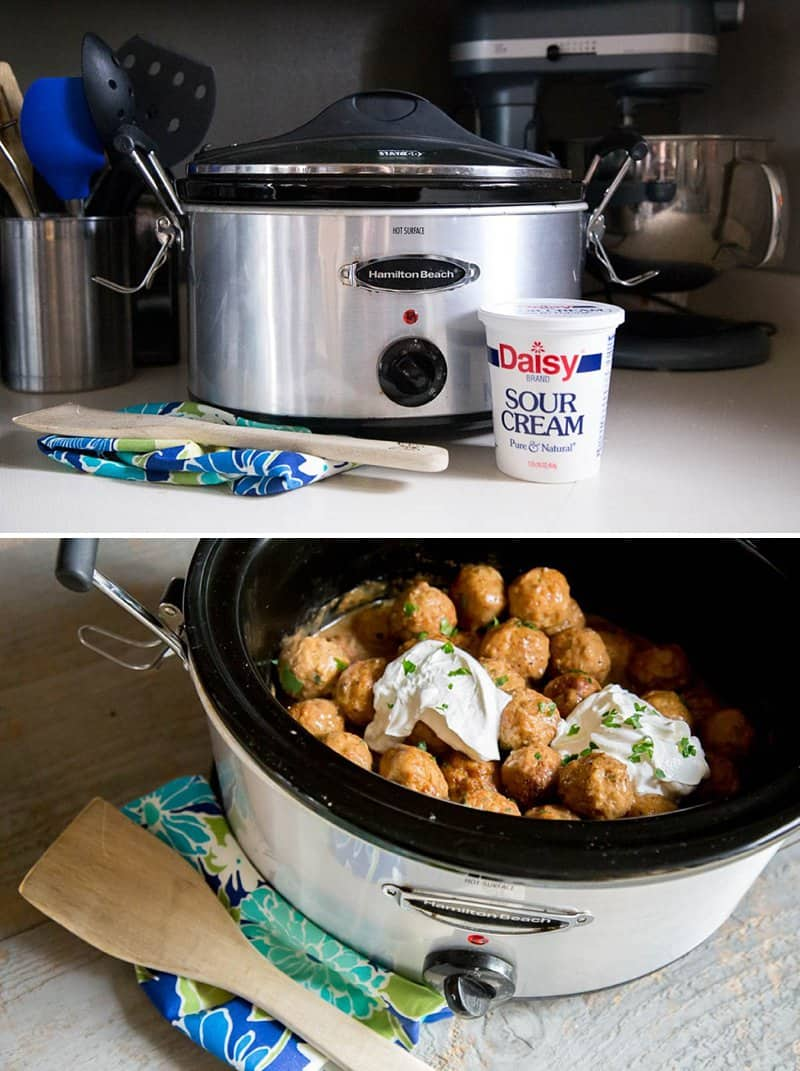 Slow Cooker Swedish Meatballs: The perfect winter comfort food when served with egg noodles *This crock pot recipe sounds delicious!