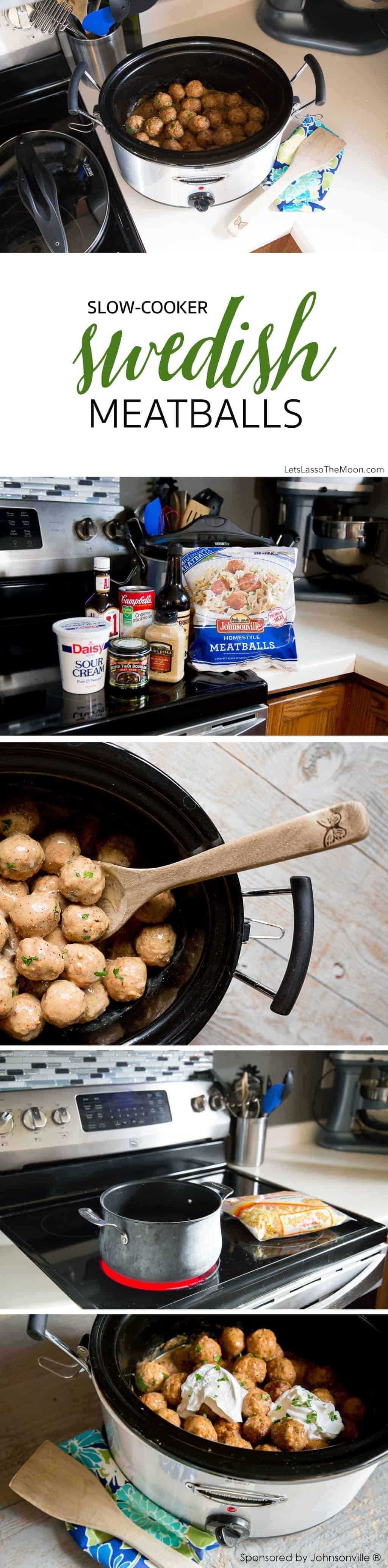 Slow-Cooker Swedish Meatballs Recipe: Nothing beats the smell of meatballs in the crock pot smothered in a homemade, creamy gravy sauce. These taste much better than the one's they serve at IKEA. *This recipe is so simple and perfect solution when having a large group of guests over for a party!
