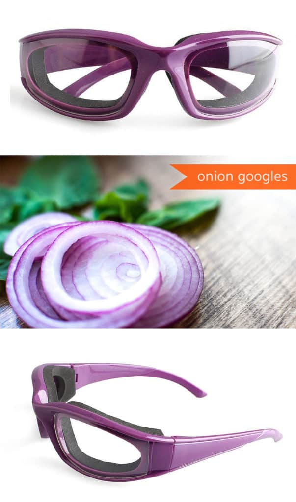 Onion Googles *Perfect for when making this chicken pot pie recipe. Ha. Love it.