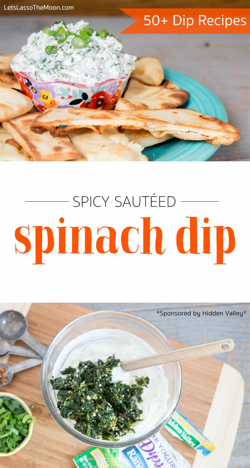 50+ Dip Recipes *This Spicy Spinach Dip with Greek Yogurt sounds delicious.