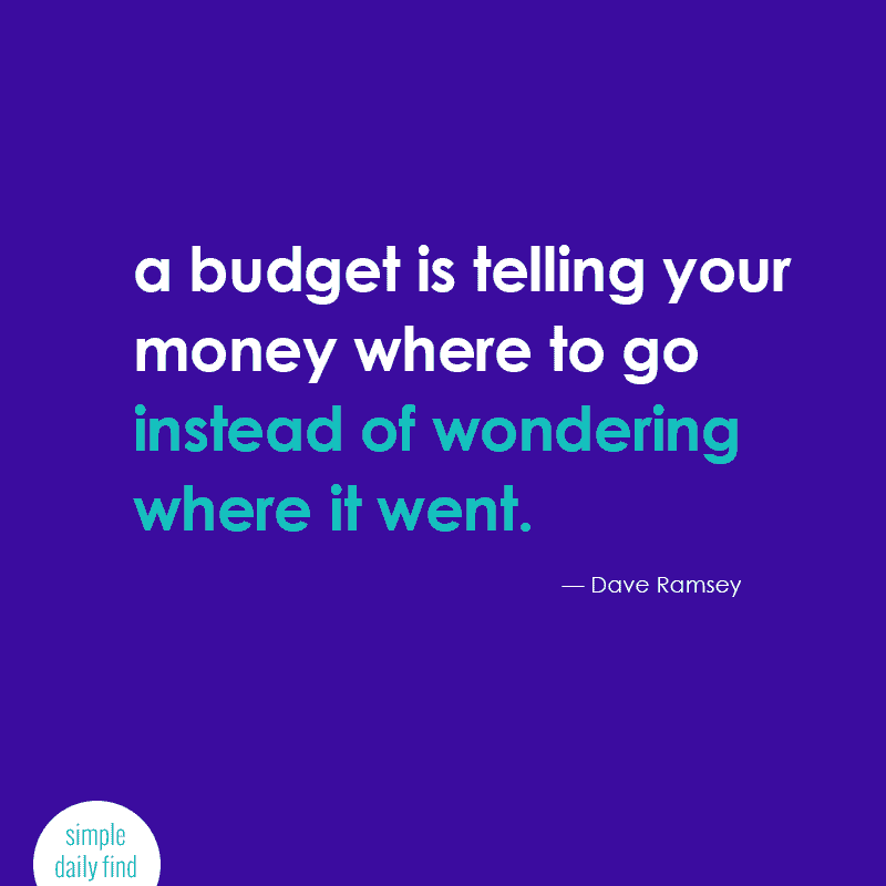 a budget is telling your money where to go instead of wondering where it went. #quote
