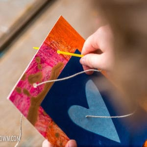 Solar Print Art for Kids: Make a Handmade Mother's Day Garland!