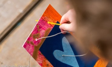 Solar Print Art for Kids: Make a Handmade Mother's Day Garland!