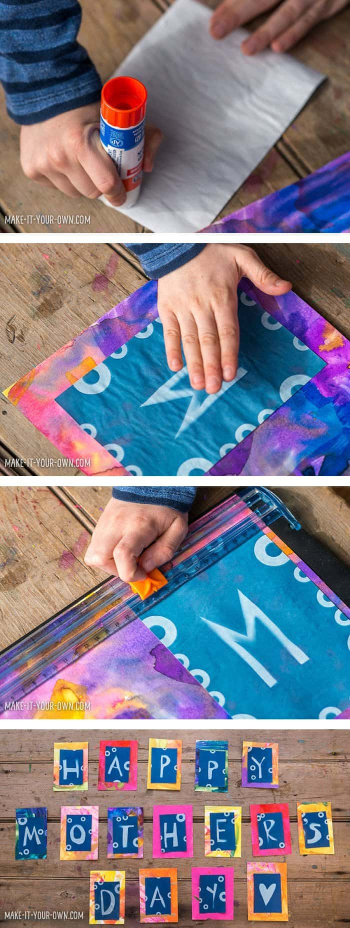 Solar Print Art for Children: Make a Handmade Mother's Day Garland *This educational, DIY kids' craft is so sweet. Love the final product with the beads and string attached!