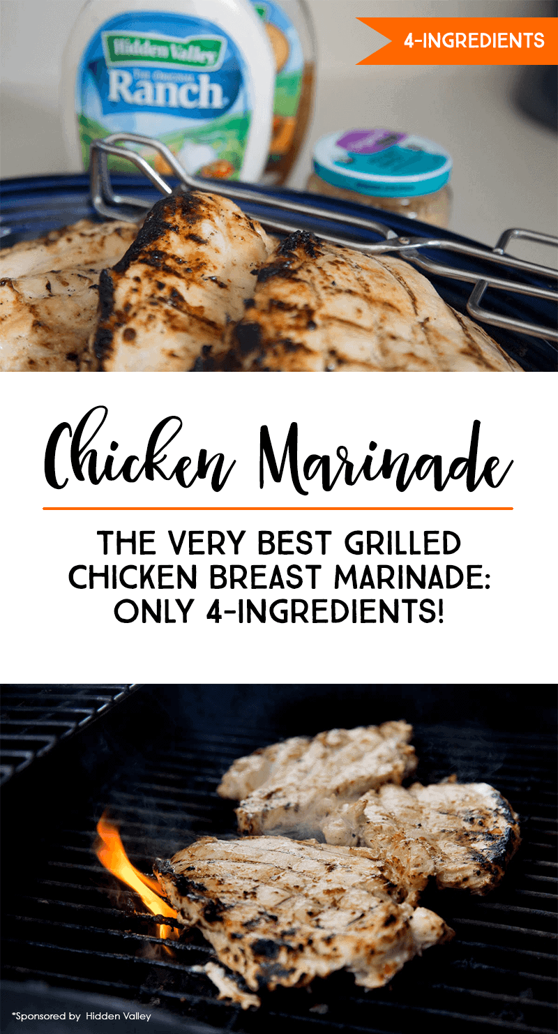 How to Make The BEST Chicken Breast Marinade With Only 4-Ingredients #chicken #recipe #chickenrecipe #grilling *Love this easy chicken marinade!