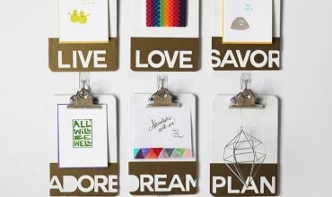 Clipboard Inspiration Wall