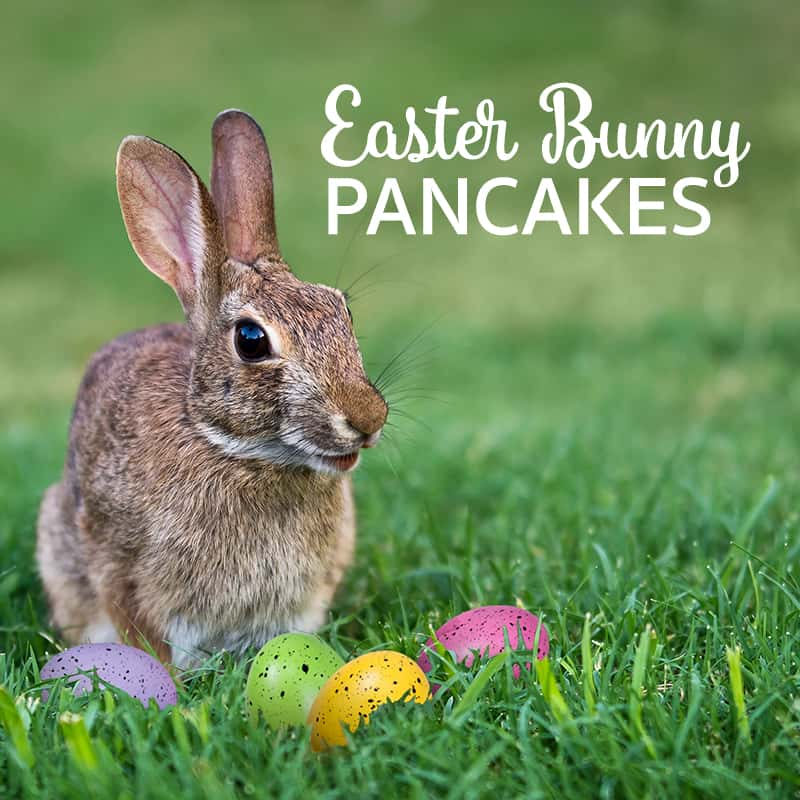 Easter Bunny Cakes for Kids --Carrot Pancakes Recipe *This would be amazing with cream cheese frosting