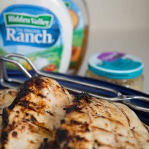 The Very BEST Grilled Chicken Marinade: 4-Ingredient Hidden Valley Ranch Chicken Recipe