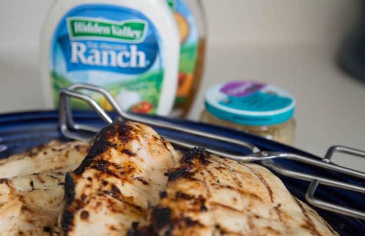 Easy Dinner Recipe — 4-Ingredient Garlic Ranch Grilled Chicken