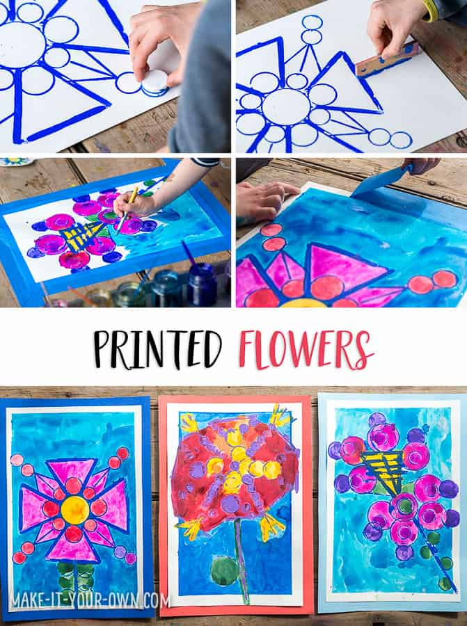 Printed Flowers From Recycled Items