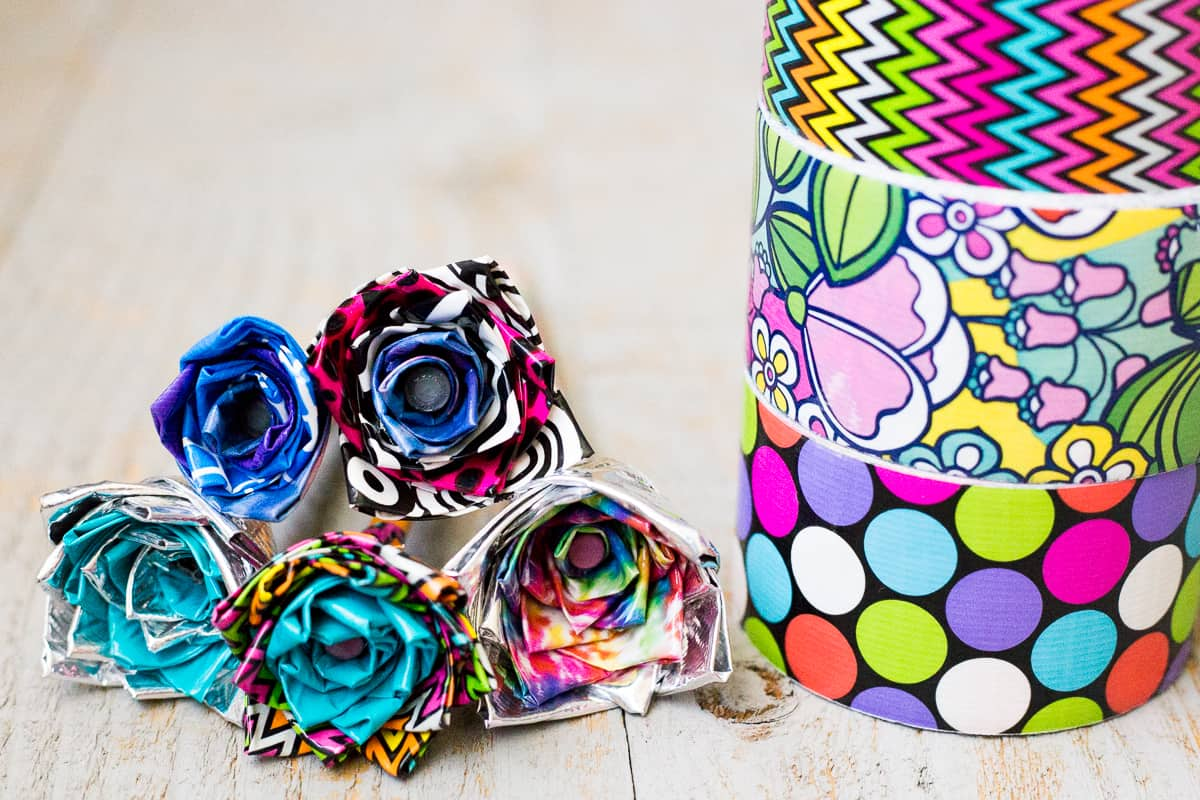 DIY Duct Tape Flower Pens — An Easy Video Tutorial for Kids by Kids